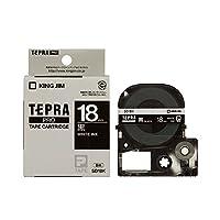 (まとめ) キングジム テプラ PRO テープカートリッジ ビビッド 18mm 黒/白文字 SD18K 1個 〔×4セット〕