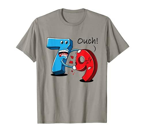 Matematica giochi di parole 7 mangiato o numero 8 9- matematico scherzo divertente Maglietta