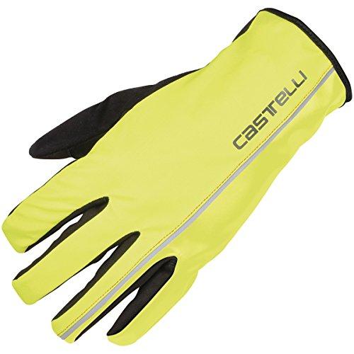 Castelli Nano XT–Guantes–para Hombre, Small, Yellow Fluo