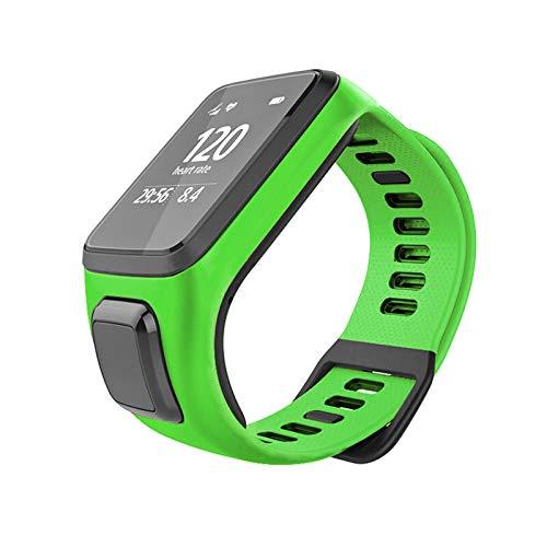LICHIFIT Ersatzarmband für Smartwatch-Armband, Silikon, für TomTom Runner 3/2 Spark 3 Cardio + Musik
