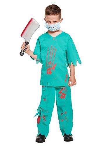 Henbrandt Disfraz de Doctor Sangriento Infantil Tamao Mediano Edad 7 - 9 aos