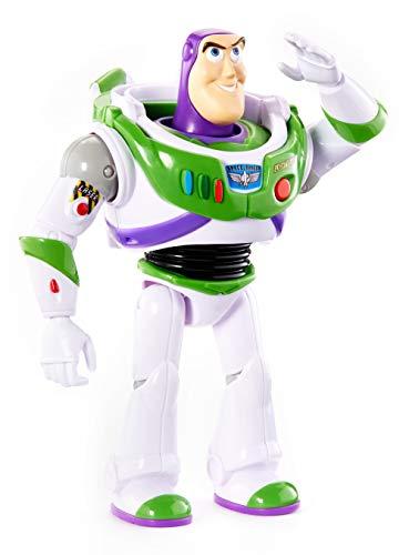 Disney Pixar Toy Story 4 Figurine parlante Buzz LÉclair en Ranger de lespace, phrases et sons, version française, jouet pour enfant, GFR20