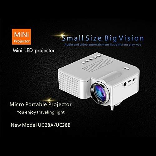 UC28B Mini Proyector LED portátil 1080P Cine en casa Cine en casa USB TF Entrada de Tarjeta Mini Beamer - Blanco