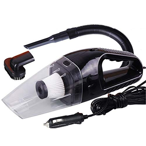 QiKun-Home Aspiradora portátil inalámbrica Potente aspiradora ciclónica portátil Recargable Aspiradoras de Coche Negro