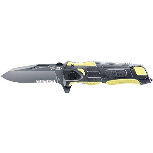 Walther Uni Messer schwarz/gelb PRO Klappmesser Rescue Knife, mehrfarbig, One Size
