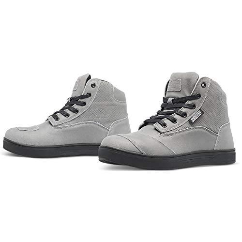 Speed and Strength Women's Jezebel Moto Shoe (Grey, 10)