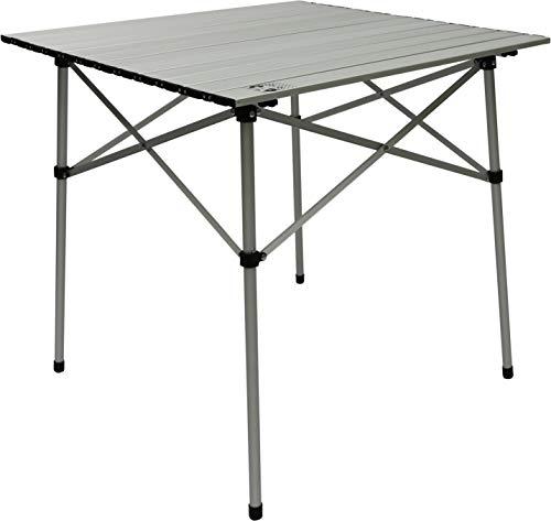 Cao - Tavolo a stecche, pieghevole e arrotabile, in alluminio