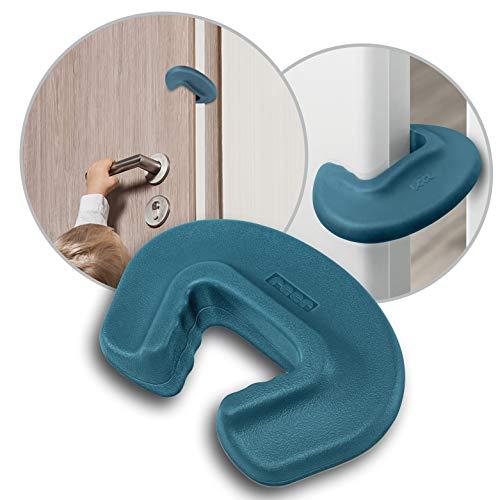 reer Finger-Klemm-Schutz für Türen, Tür-Stopper, vom schwäbischen Kinder-Sicherheits-Experten, petrolblau