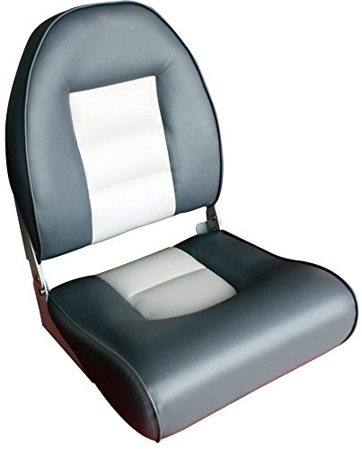 Leader Accessories Deluxe Gray Charcoal High Back Boat Seat