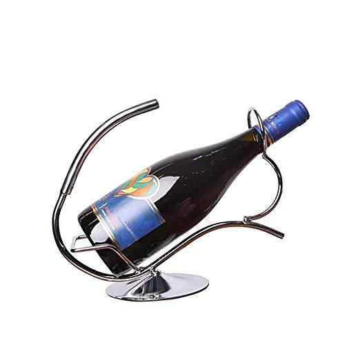 Pkfinrd Estante de vino de hierro forjado para el hogar, restaurante, ventana de almacenamiento de vino de escritorio