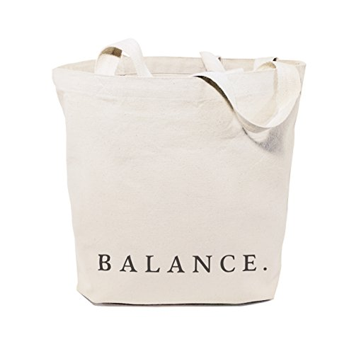 The Cotton & Canvas Co. Balance Gym, Shopping and Travel Resusable Shoulder Tote and Handbag