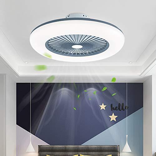 Ouuily Ventilatore a Soffitto con Telecomando, 80W Ventilatore Soffitto con Luce Ventilatore da Soffitto Silenzioso Dimmerabile Ventilatori a Soffitto per Camera da Letto, Soggiorno,Grigio