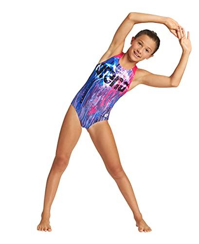 ARENA Bañador Deportivo niña Comet, Navy-Freak Rose, 14 años