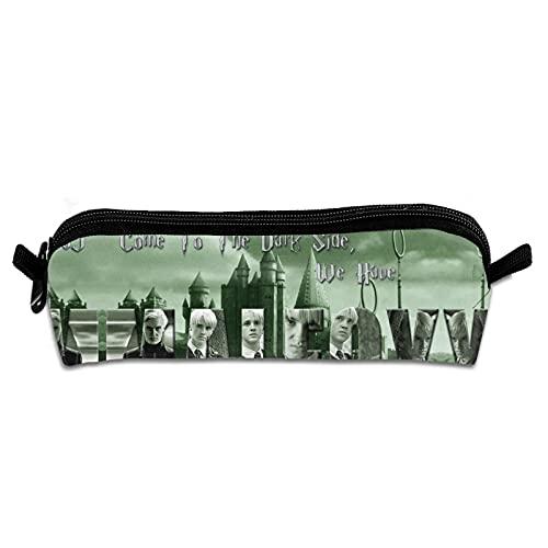 Anillo de serpiente Quidditch qand Fans Regalo Draco Mal-foy Varita de Cosplay, bolsa de lápices de plástico, gran almacenamiento de bolsillo de regalo, escuela, examen de oficina