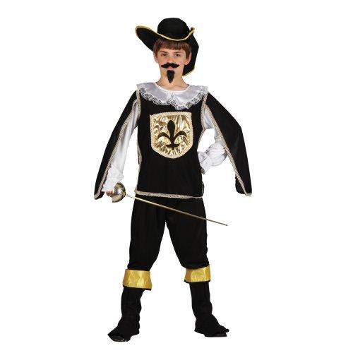 Déguisements âge de costume de mousquetaire noir Enfants 4-6 ans
