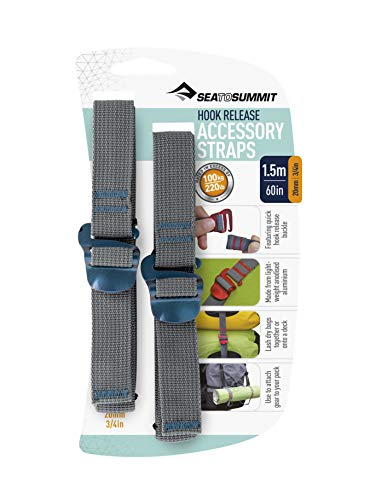 SEA TO SUMMIT Accessory Strap with Hook Buckle 20mm Webbing-1.5m Ceinture Adulte Unisexe Bleu Taille Unique
