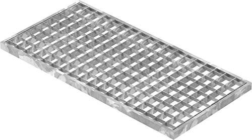 Fenau | Rejilla de acero piso Dimensiones: 290 x 590 x 20 mm - MW: 30 mm / 30 mm (galvanizado en caliente) (Apto para marco: Fenau 300 x 600 x 23 mm)