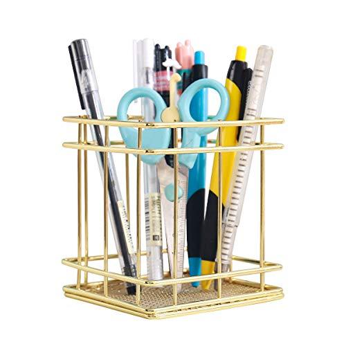N/D Pen Organizer Desktop Pencil Holder Gold 1Pack Makeup Brush Organizer ,Office Desk and Students Sundry Receive ,The Remote Receive a case BT-05 (BT-05(Golden))