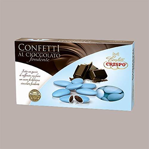 Lucgel Srl 1000 gr Confetti Celeste al Cioccolato Fondente per Cerimonia Anniversario