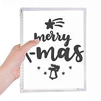 陽気なクリスリスマス引用 硬質プラスチックルーズリーフノートノート