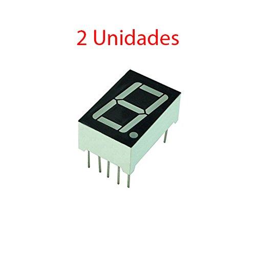 Movilideas - 2X Display 7 segmentos Led Rojo 13mm 0,56 Anodo comun 1 Digito 56111BH
