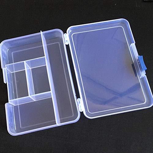 Hotaden 1pc Transparenter Plastik 5 Fach-aufbewahrungsbehälter-ohrring-Ring-schmuck Bin-Korn-Kasten-behälter