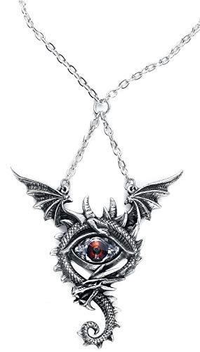 Alchemy Gothic Eye of The Dragon Halskette silberfarben