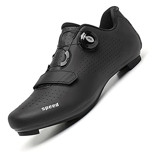 JUHUYP Chaussures de Vélo de Route Homme Femme Chaussures de Vélo Antidérapantes Boucle de Lacet à Rotation Rapide Chaussures de Cyclisme Chaussure VTT SPD/SPD-SL