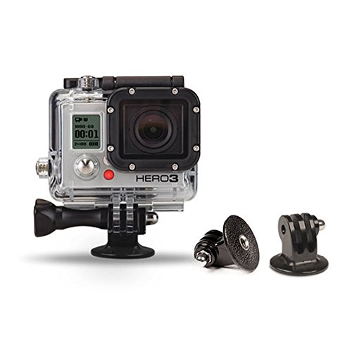 Cam Caddie Scorpion GoPro Hero Tripod Mount / Adapter for Standard ¼-20 Threaded Screws and Posts for GoPro Hero 4/3+/3/2/1 (Black)