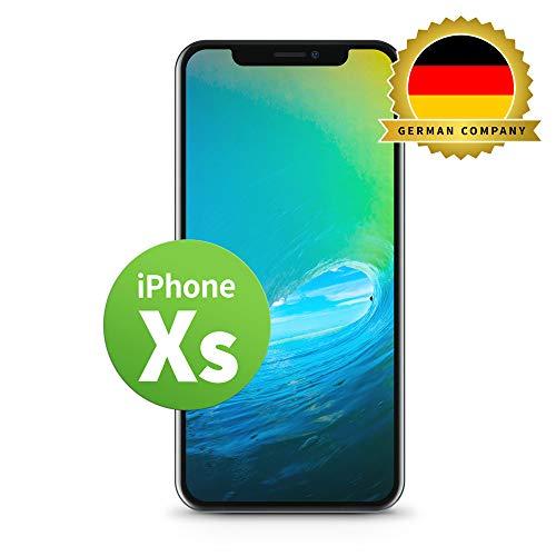 GIGA Fixxoo kompatibel mit iPhone 5c LCD Touchscreen Retina Display Ersatz in Schwarz für Einfache Reparatur, FaceTime Kamera (kein Set)