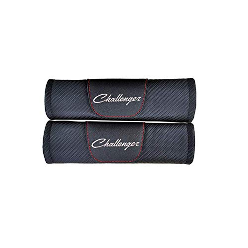 Cubiertas de cinturón de seguridad para el cinturón Cubiertas de correa para el hombro para Dodge Challenger Cinturón de seguridad Cubiertas de cinturones de asiento, almohadillas de cinturón de cuero