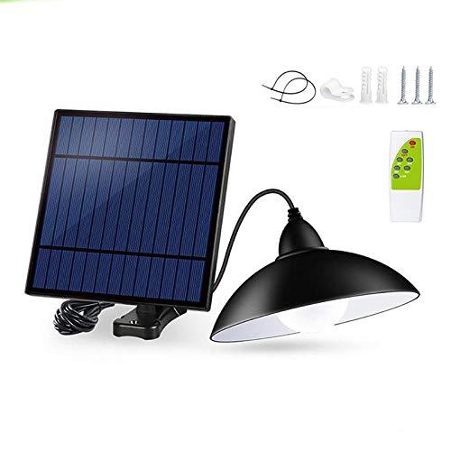 STHfficial Solar plafondlamp met afstandsbediening, retro lampenkap met zonnepaneel, 9 8 voeten, buitenlamp voor bar in de tuin