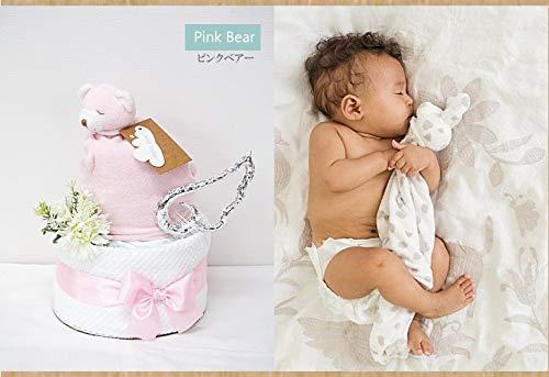 おむつケーキ エンジェルディア 出産祝い セーフティブランケット 男の子女の子 (キティ, Sサイズ25枚(Sサイズ目安2〜5ヶ月前後))