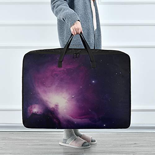 Bolsas Grandes de Almacenamiento de Ropa Nebulosa de Orión Nebulosa de emisión Constelación Orion Boy Organizador de Ropa 70 X 50 X 28 cm Edredón Colcha Almohada Equipaje Mover Totalizador de Ropa A