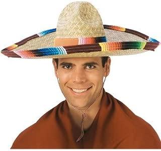 Costume Sombrero with Rainbow Serape Edge And Band