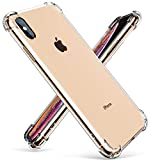 GVIEWIN Crystal Clear iPhone Xs Max Case, Soft TPU Cover with Shock Absorption Bumper Corners and Transparent Back Slim & Protective Cases for iPhone Xs Max 6.5'(Clear)