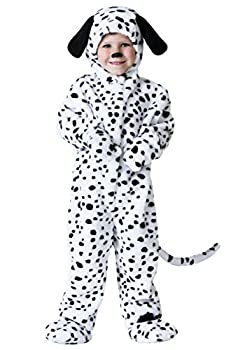 Toddler Dalmatian Costume Spotted Puppy Dog Onesie for Kids 4T Black,White