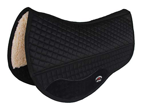 CHALLENGER 28' x 30' Western Quilted Fleece Padded Barrel Saddle Pad Black 39106