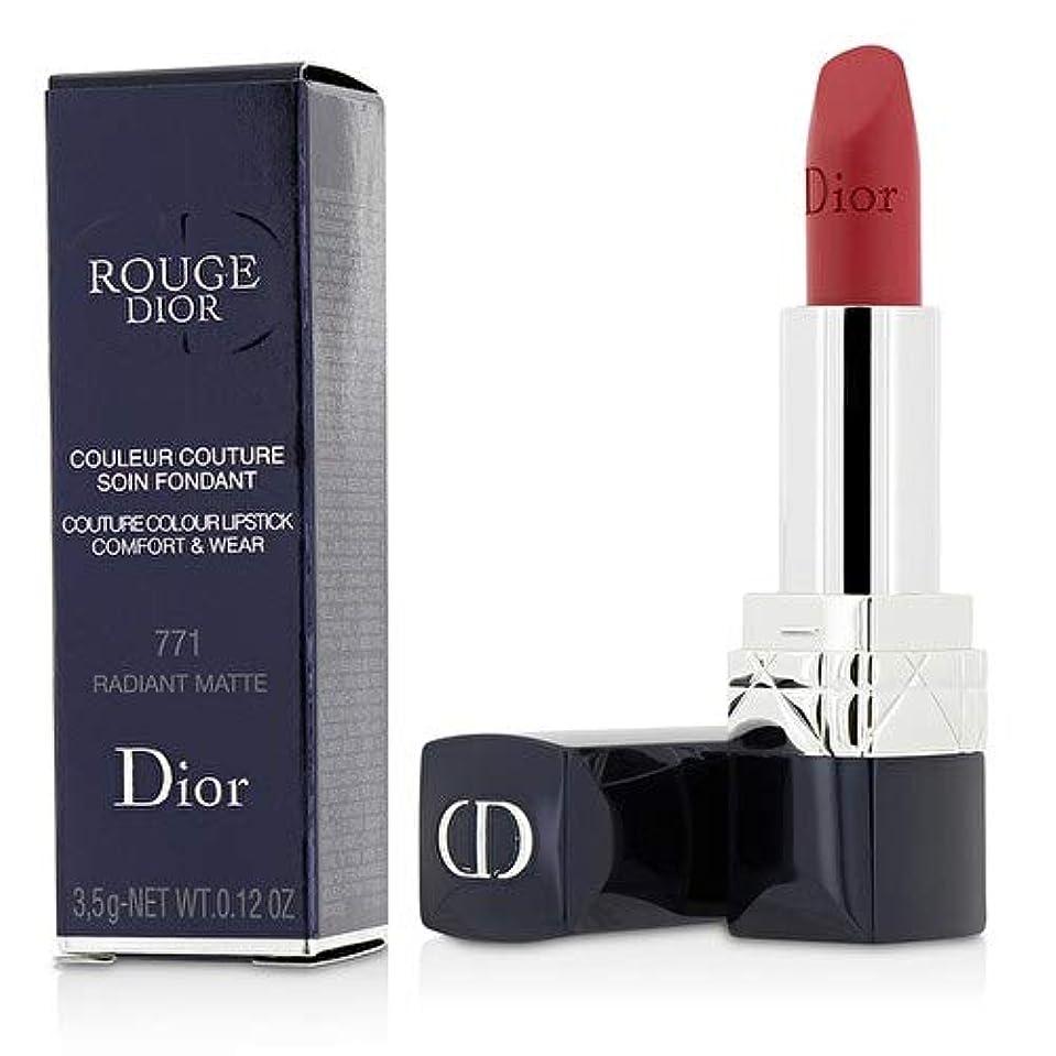 あそこ特徴づける群衆クリスチャンディオール Rouge Dior Couture Colour Comfort & Wear Matte Lipstick - # 771 Radiant Matte 3.5g/0.12oz並行輸入品
