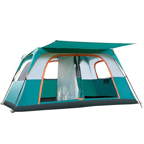 Tienda Grande al Aire Libre, Carpa Impermeable con 2 Habitaciones y 1 Sala, Que Puede acomodar a 8-12 Personas, Vista panorámica de 360 °, para excursiones para Acampar/Equipo Familiar