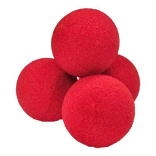 SOLOMAGIA Palline di Spugna Soft - Set di 4 Palline 5.0 cm - Rosse - Magia con Palle e Palloncini - Giochi di Magia