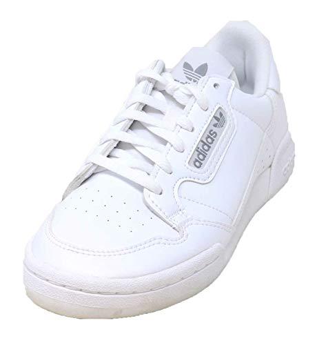 adidas Originals Unisex-Kid's Continental 80 Sneaker, White/White/Grey, 5 M US Big Kid