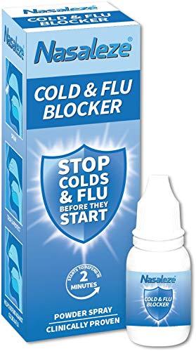 Nasaleze Cold & Flu Blocker – Cold and Flu Prevention – Powder Nasal Spray – 30 Days Supply – 800mg