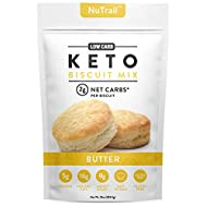 NuTrail™ - Keto Biscuits Mix - Low Carb Food - Easy to Bake - Perfect for Breakfast - Only 2g Net Carbs (Butter) (11.3 oz) (1 Count)