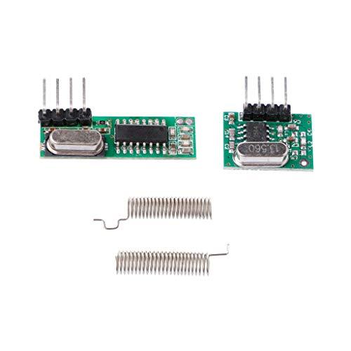 Baodanjiayou 1 Lot 433 MHz Superheterodyne récepteur RF Module émetteur kit avec 2 antennes