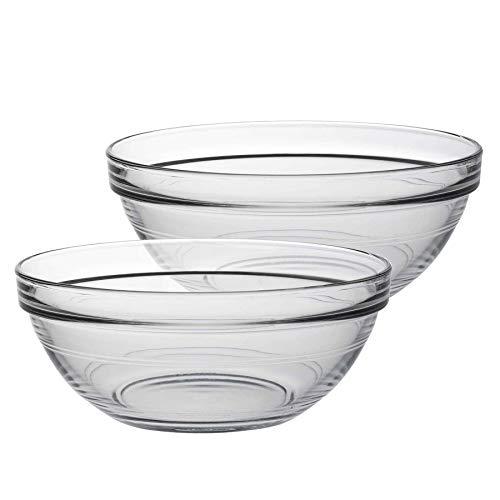 DURALEX Saladiers empilables Lys - en Verre/pour la Cuisine - 17 cm - Lot de 6