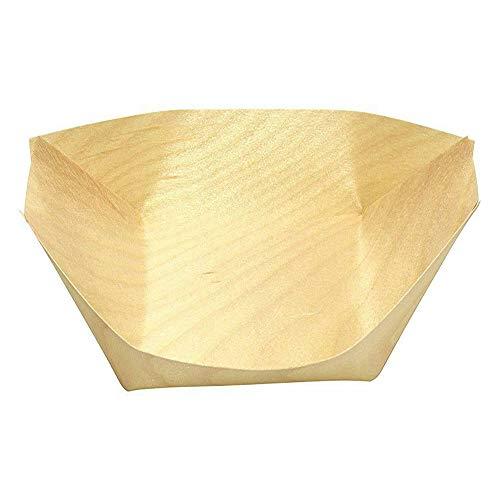 ZEXIN Bandeja desechable para barco de sushi de madera de pino para servir barco, bandeja de sushi, contenedor de alimentos, cuenco de madera, herramienta para tartas