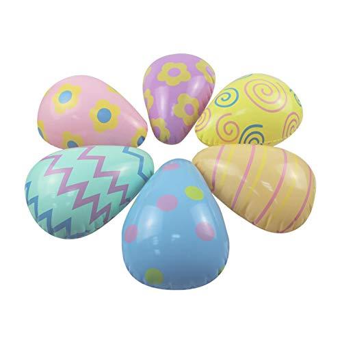 6 huevos inflables de Pascua de PVC, decoración de Pascua, regalo de Pascua, dulce, decoración de flores