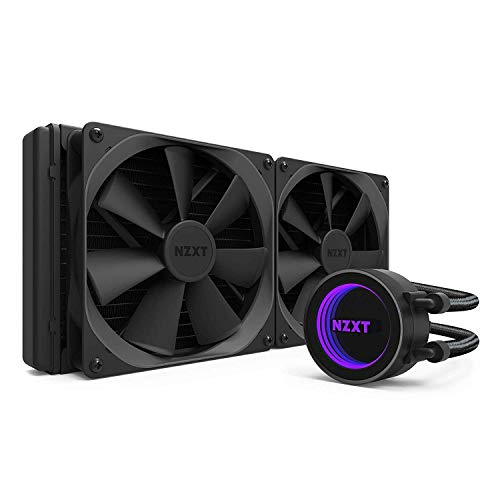 NZXT Kraken X62 280 mm - All-In-One RGB-CPU-waterkoeling - CAM-ondersteuning - Infinity Mirror Design - high-performance pomp - versterkte, verlengde slangen - 140 mm Aer P-radiatorventilator, zwart
