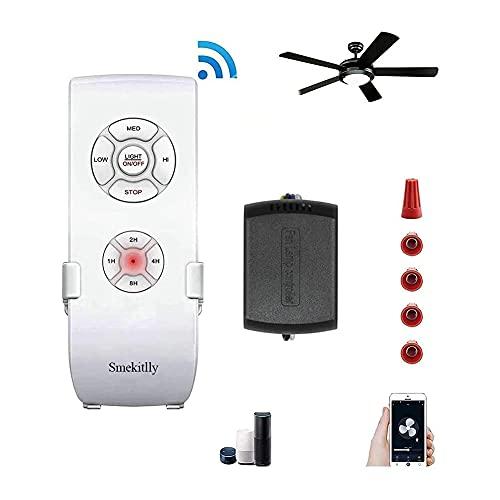 Kit de mando a distancia de ventilador de techo inteligente WiFi, receptor universal de tamaño pequeño para ventiladores de techo,...